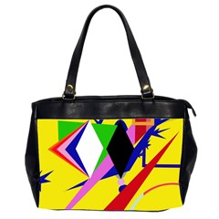 Yellow abstraction Office Handbags (2 Sides)