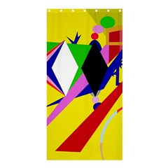 Yellow abstraction Shower Curtain 36  x 72  (Stall)