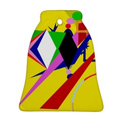 Yellow abstraction Bell Ornament (2 Sides)