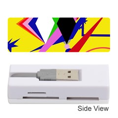 Yellow abstraction Memory Card Reader (Stick)