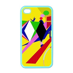 Yellow abstraction Apple iPhone 4 Case (Color)