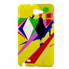 Yellow abstraction Samsung Galaxy Note 1 Hardshell Case
