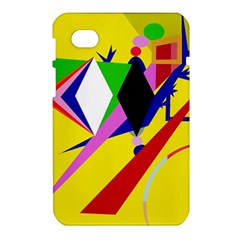 Yellow abstraction Samsung Galaxy Tab 7  P1000 Hardshell Case