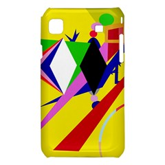 Yellow abstraction Samsung Galaxy S i9008 Hardshell Case