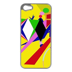 Yellow abstraction Apple iPhone 5 Case (Silver)