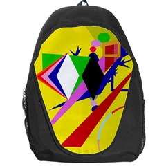 Yellow abstraction Backpack Bag