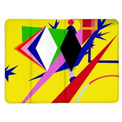 Yellow abstraction Kindle Fire (1st Gen) Flip Case