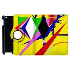 Yellow abstraction Apple iPad 2 Flip 360 Case
