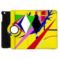 Yellow abstraction Apple iPad Mini Flip 360 Case