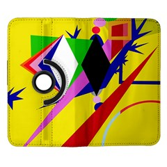 Yellow abstraction Samsung Galaxy Note II Flip 360 Case