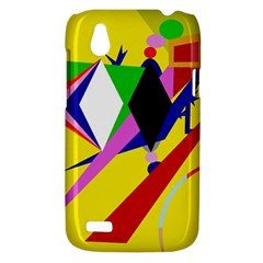 Yellow abstraction HTC Desire V (T328W) Hardshell Case
