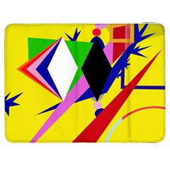 Yellow abstraction Samsung Galaxy Tab 7  P1000 Flip Case