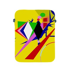 Yellow abstraction Apple iPad 2/3/4 Protective Soft Cases