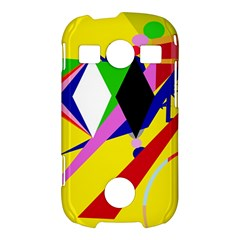 Yellow abstraction Samsung Galaxy S7710 Xcover 2 Hardshell Case