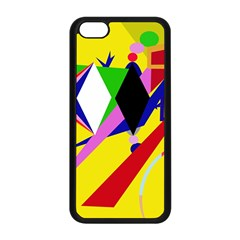 Yellow abstraction Apple iPhone 5C Seamless Case (Black)