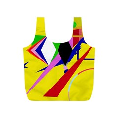 Yellow abstraction Full Print Recycle Bags (S)