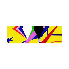 Yellow abstraction Satin Scarf (Oblong)