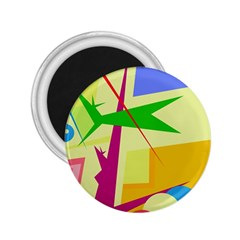Colorful abstract art 2.25  Magnets