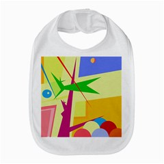 Colorful abstract art Bib