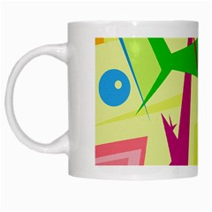 Colorful abstract art White Mugs