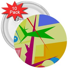 Colorful abstract art 3  Buttons (10 pack)