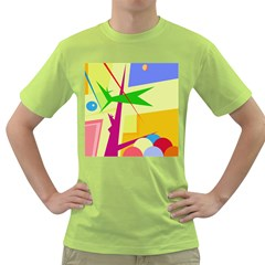 Colorful abstract art Green T-Shirt