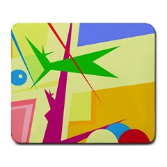 Colorful abstract art Large Mousepads