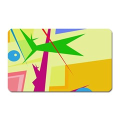 Colorful abstract art Magnet (Rectangular)