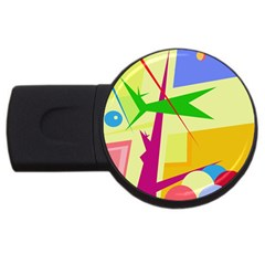 Colorful abstract art USB Flash Drive Round (2 GB)