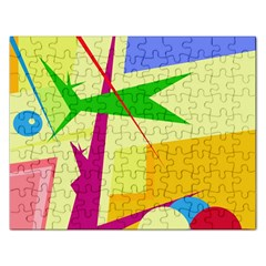 Colorful abstract art Rectangular Jigsaw Puzzl