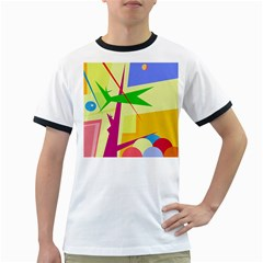 Colorful abstract art Ringer T-Shirts