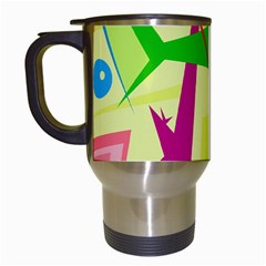 Colorful abstract art Travel Mugs (White)