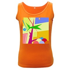 Colorful abstract art Women s Dark Tank Top