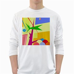 Colorful abstract art White Long Sleeve T-Shirts