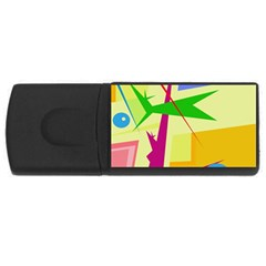 Colorful abstract art USB Flash Drive Rectangular (4 GB)