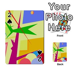 Colorful abstract art Playing Cards 54 Designs