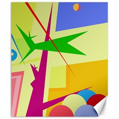 Colorful abstract art Canvas 8  x 10