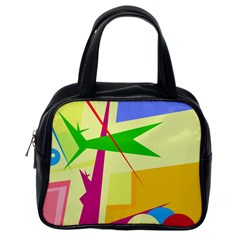 Colorful abstract art Classic Handbags (One Side)