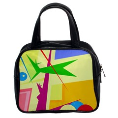 Colorful abstract art Classic Handbags (2 Sides)