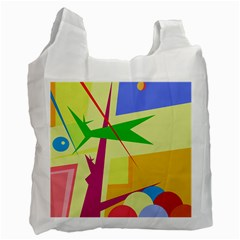 Colorful abstract art Recycle Bag (One Side)