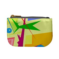 Colorful abstract art Mini Coin Purses