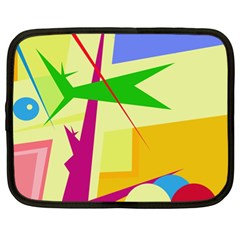 Colorful abstract art Netbook Case (XL)