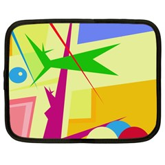 Colorful abstract art Netbook Case (XXL)