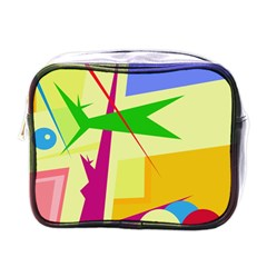 Colorful abstract art Mini Toiletries Bags