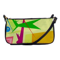 Colorful abstract art Shoulder Clutch Bags