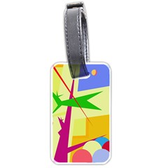 Colorful abstract art Luggage Tags (Two Sides)
