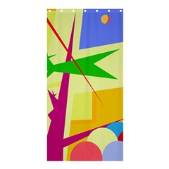 Colorful abstract art Shower Curtain 36  x 72  (Stall)