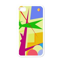 Colorful abstract art Apple iPhone 4 Case (White)