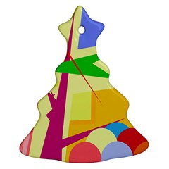 Colorful abstract art Christmas Tree Ornament (2 Sides)