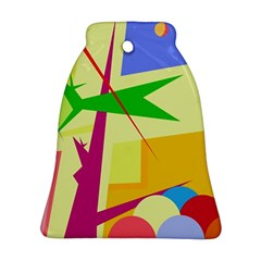 Colorful abstract art Bell Ornament (2 Sides)